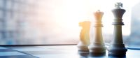 Chess pieces on strategizing for retirement planning