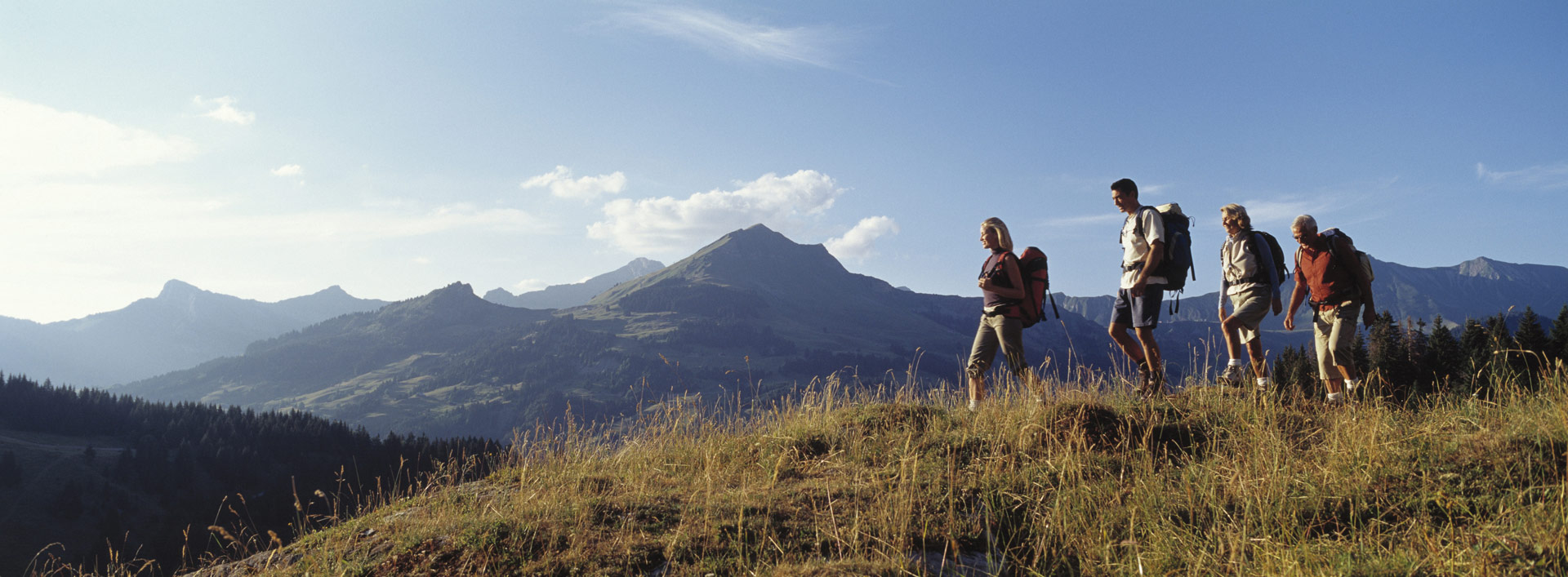 A family hiking on a financial journey